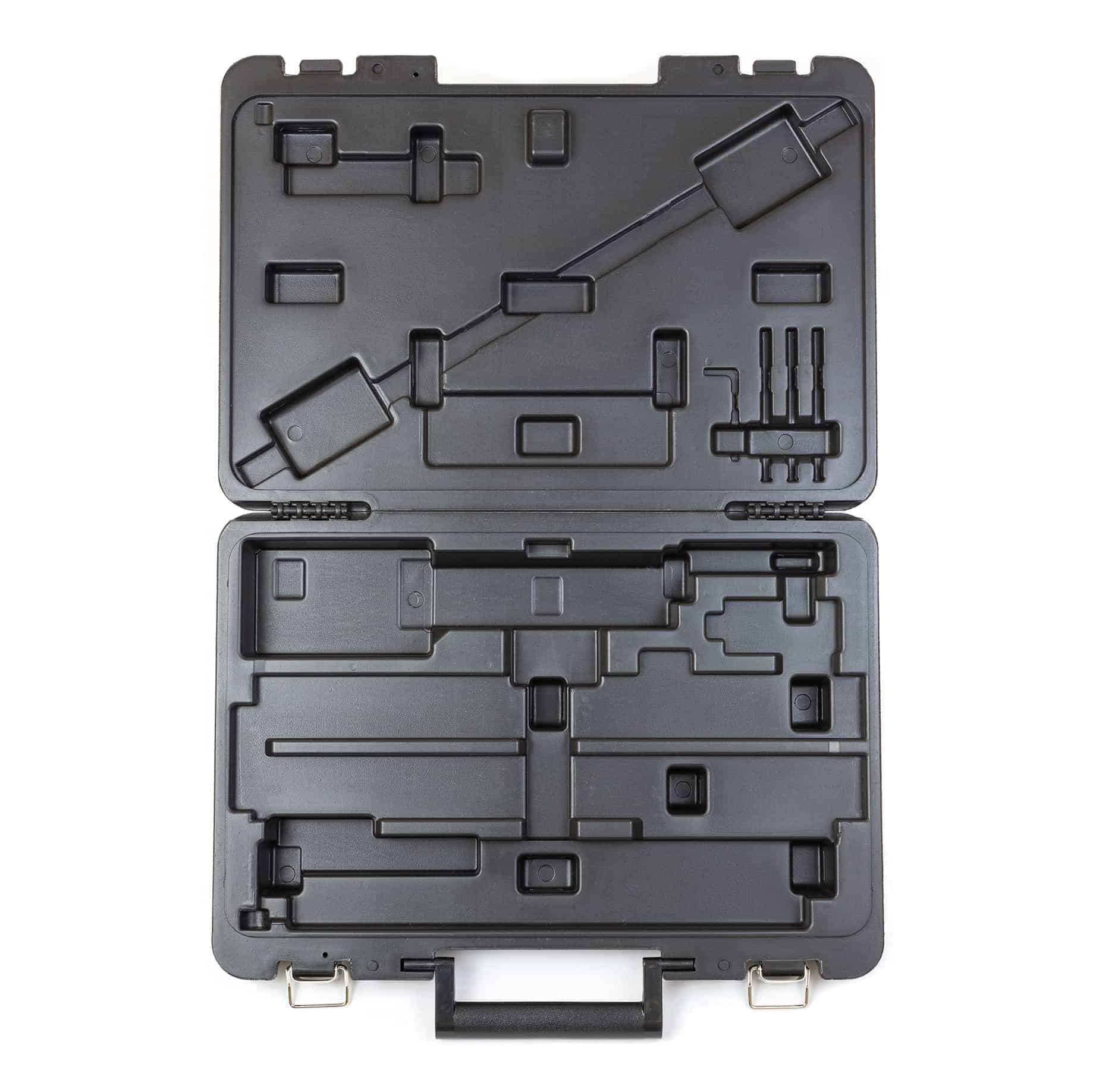 TP-CASECHJ Cabinet Hardware Jig Blow Molded Carrying Case (interior)