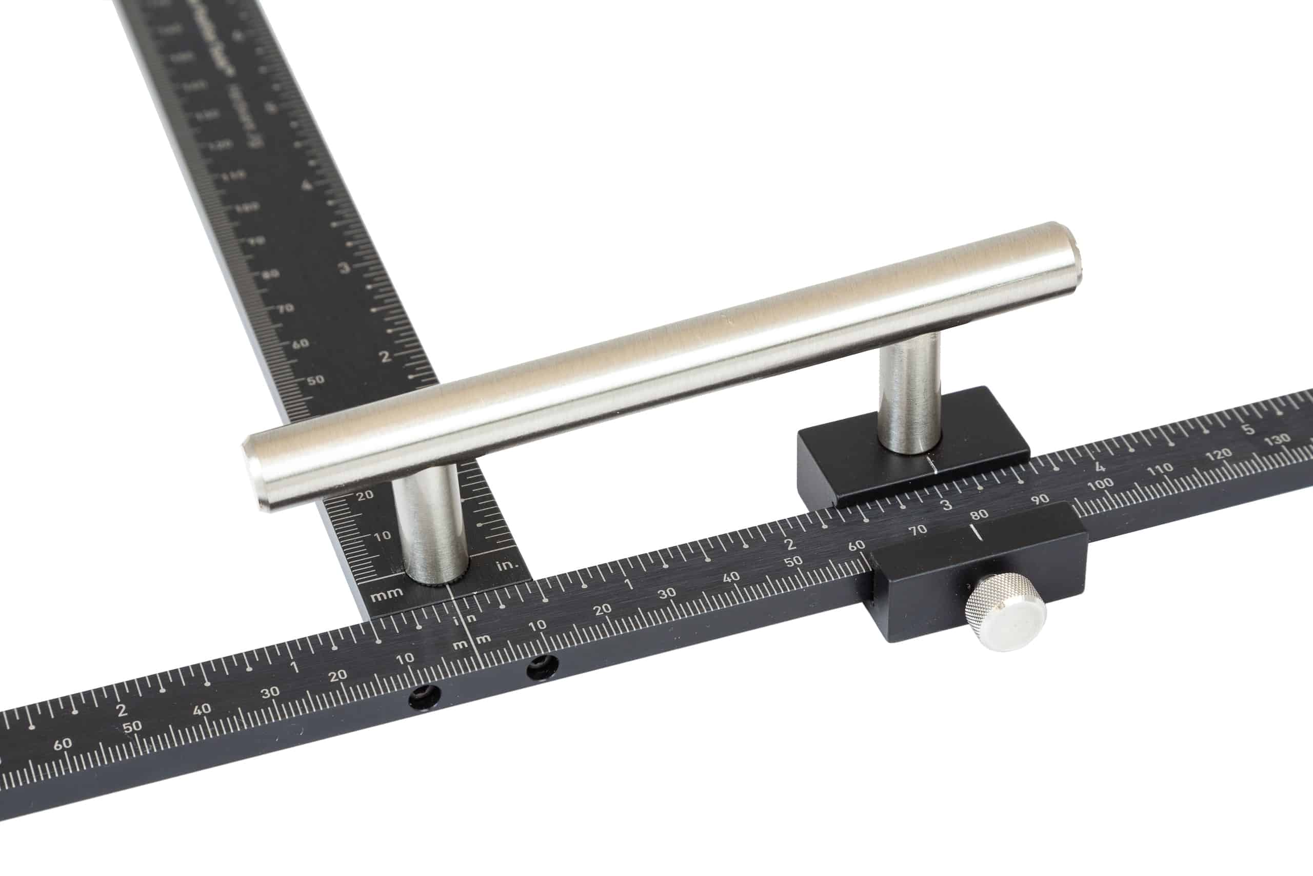 TP-1934 Cabinet Hardware Jig confirming cabinet handle spacing