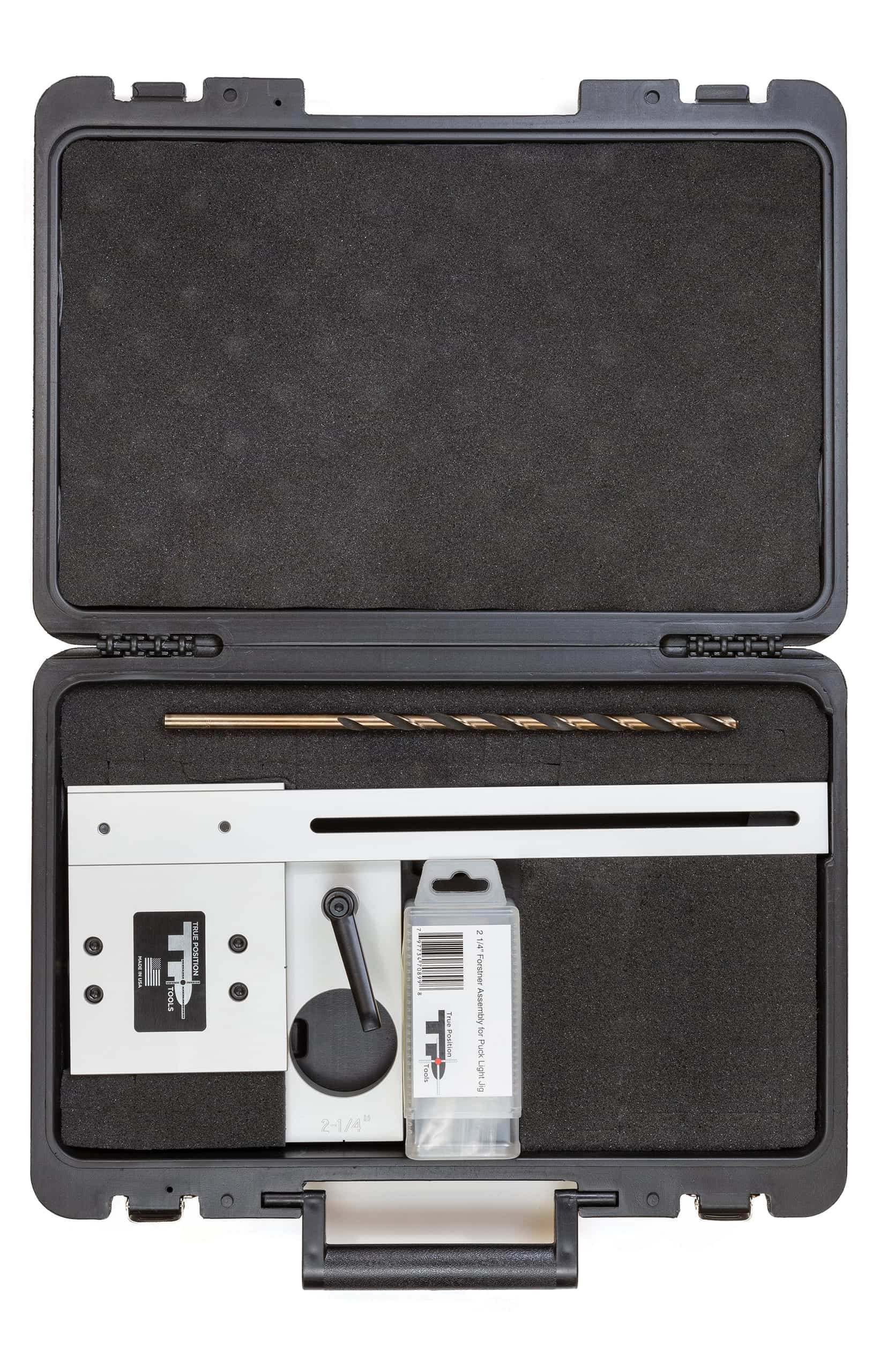 TP-PLJ 214 Puck Light Jig Kit with Case for puck lights and strip light installation