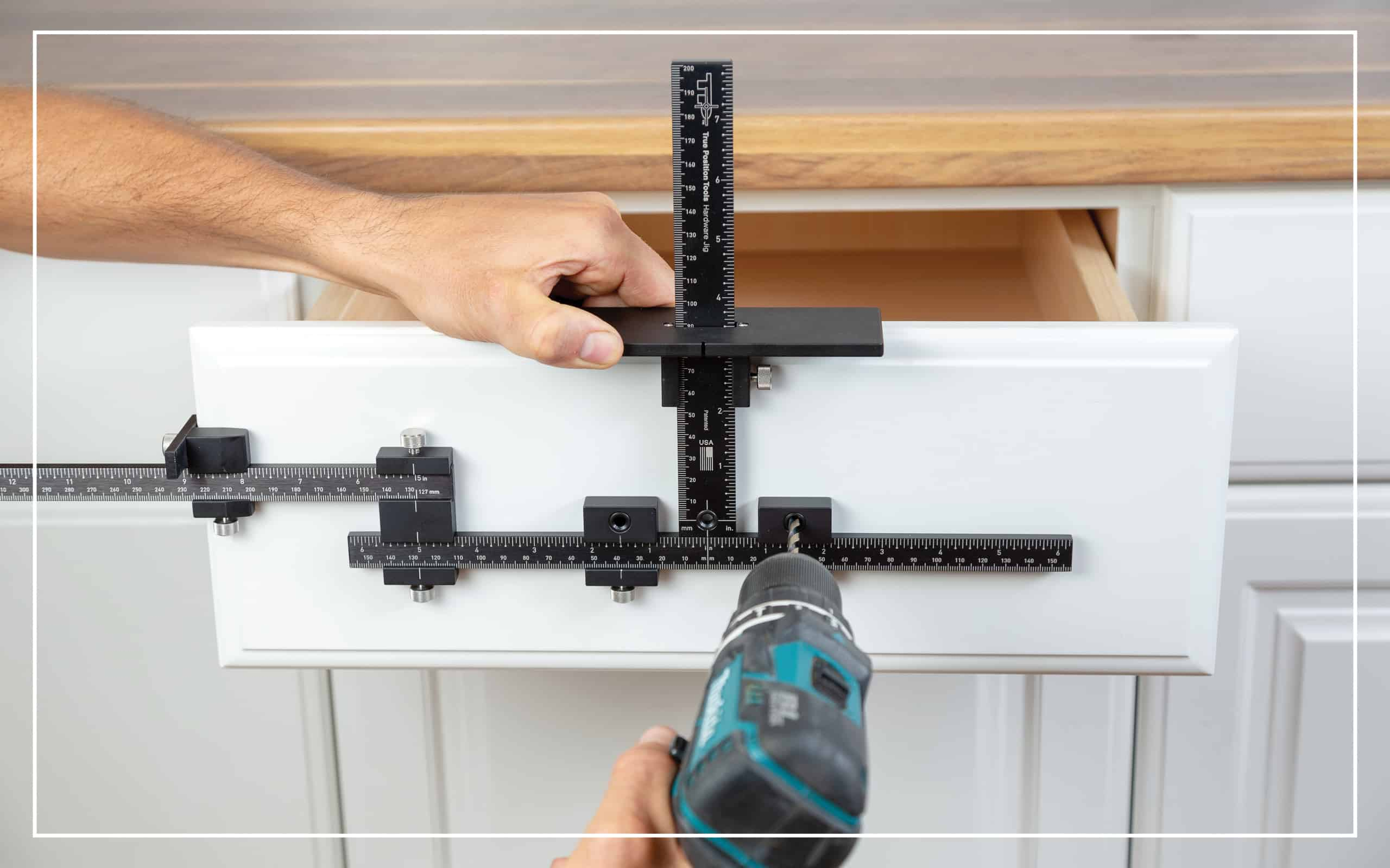 TP-ERA Extended Ruler Attachment for Easy Drawer Front Centering With TP-1934 Cabinet Hardware Jig