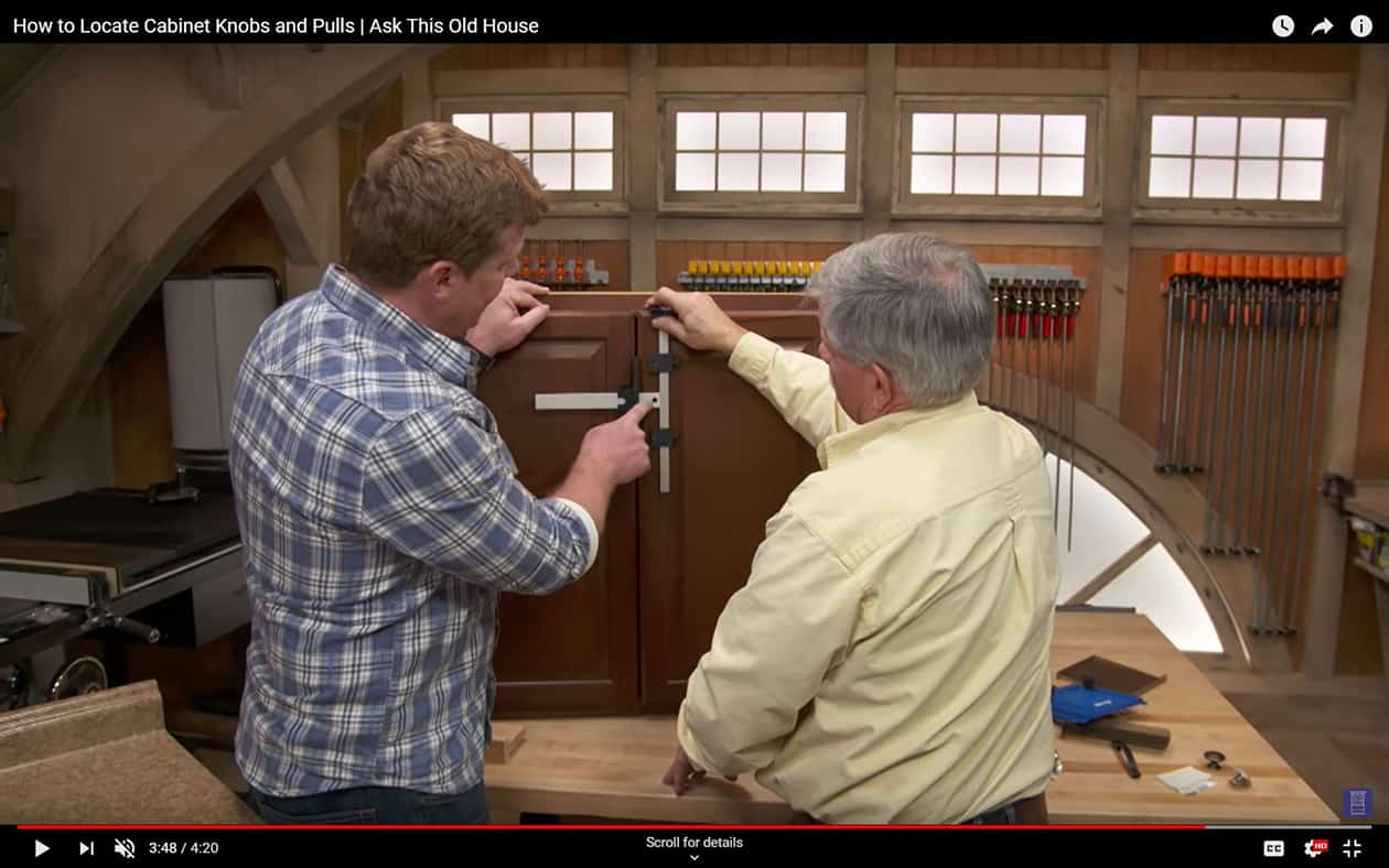 How to Locate Cabinet Knobs and Pulls – Ask This Old House