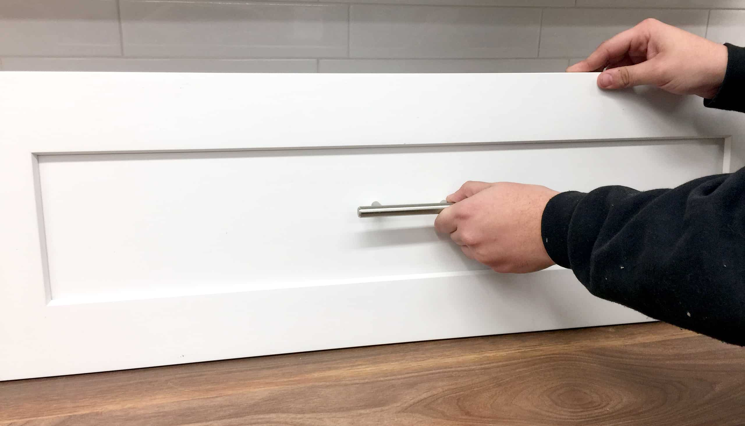 handle placement shaker style cabinet drawer front