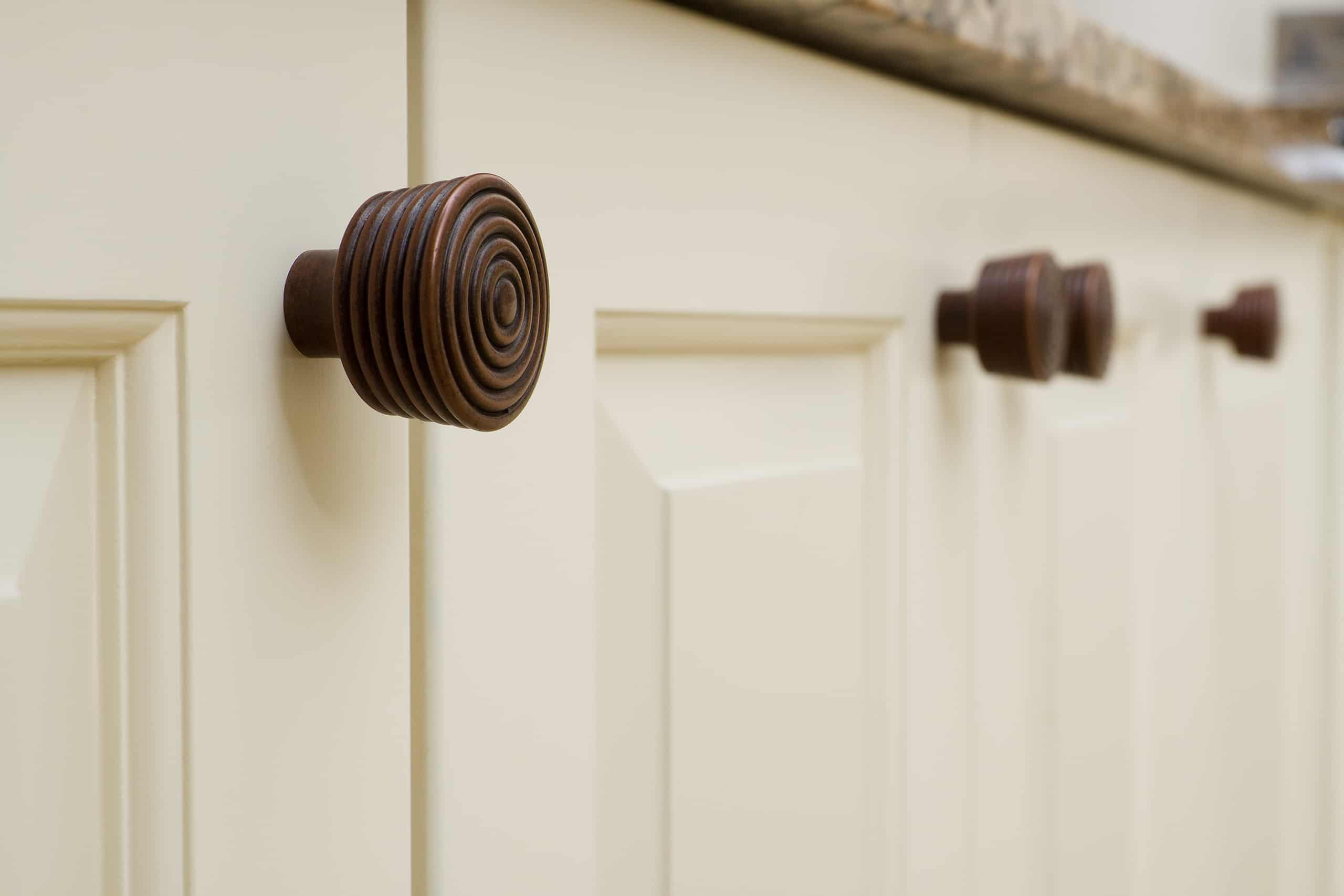 Modern brass cabinet door knobs