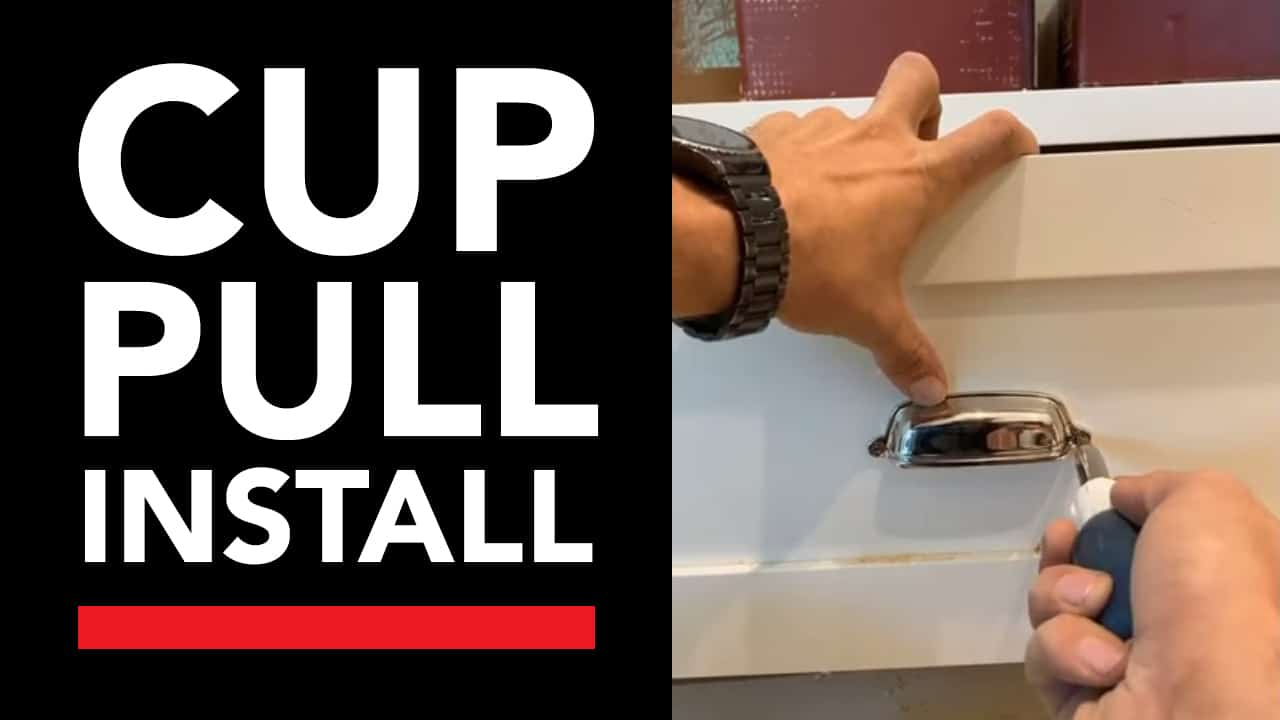 Cup Pull Install With True Position Tools Cabinet Hardware Jig