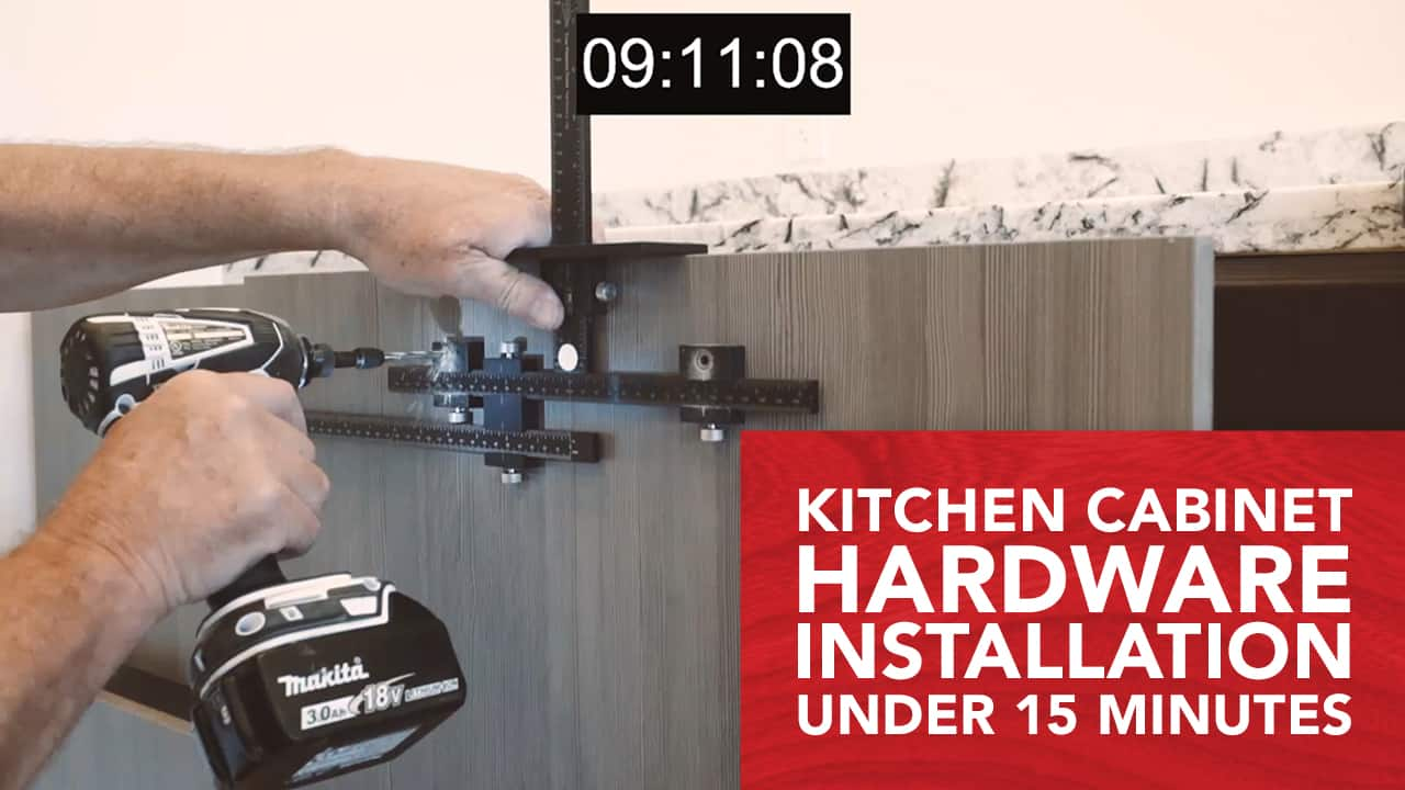 TP-1934 Kitchen Cabinet Hardware Installation Demo feat TP-ERA Extended Ruler Attachment