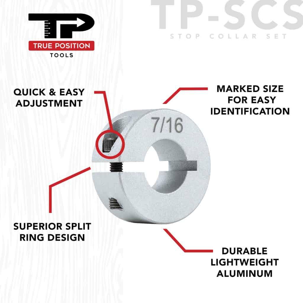 TP-SCS Stop Collar Set - Aluminum Stop Collar - Diagram